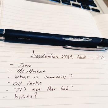 Jim Duncan's September's Monthly Note
