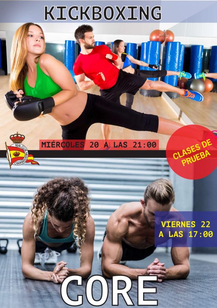 Nuevas clases de prueba: Kickboxing y Core