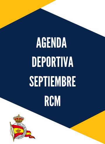 Agenda deportiva RCM septiembre