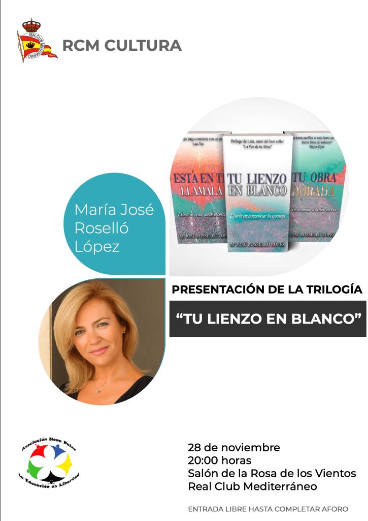 """Presentación de la trilogía """"Tu lienzo en blanco"""" de María José Roselló"""