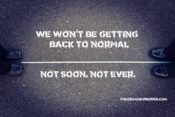 "We Won't Be Getting ""Back To Normal""... Not Soon... Not Ever!"