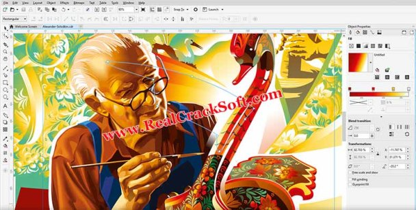 Corel Draw x9 Screenshot