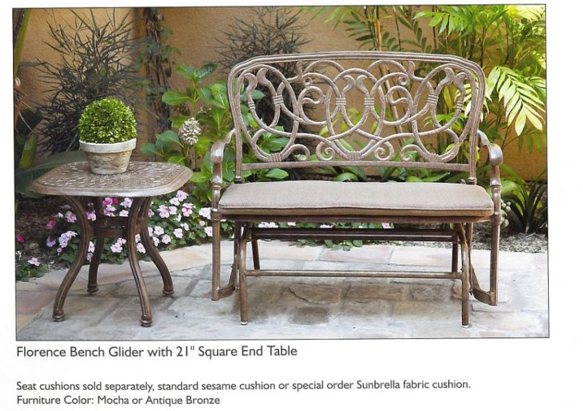 Aluminum vs  Wrought Iron Patio Furniture   Real life  Real friends     Powdered Coated Cast Aluminum Patio Furniture   Darlee