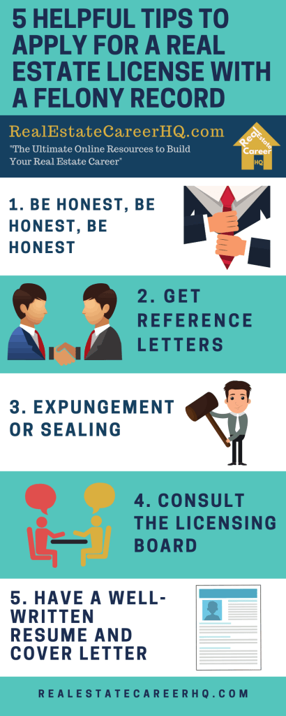5 helpful tips for a felon to apply for a real estate license