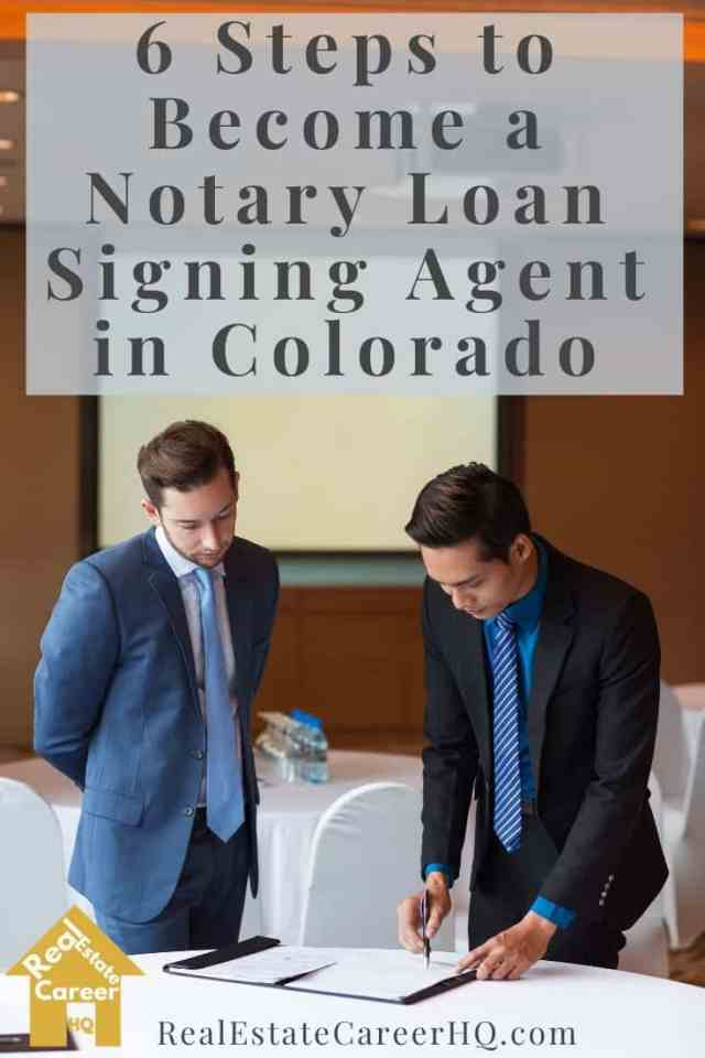 6 Steps to Become a Notary Loan Signing Agent in Colorado