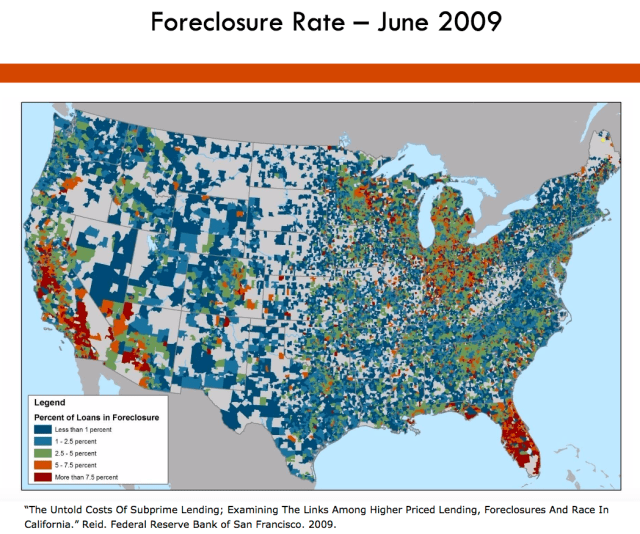 Foreclosure Map June 2009