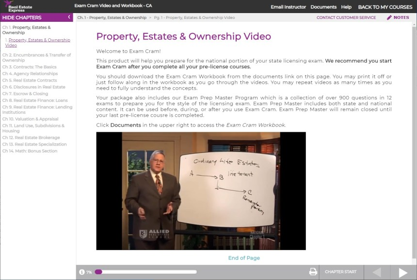 Real Estate Express - Exam Cram Video