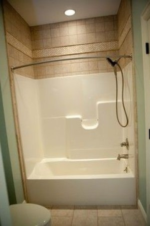 Bathroom fiberglass shower tub rental unit