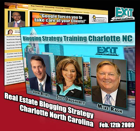 Real Estate Blogging Strategy - Charlotte NC Thursday Feb 12th, 2009.