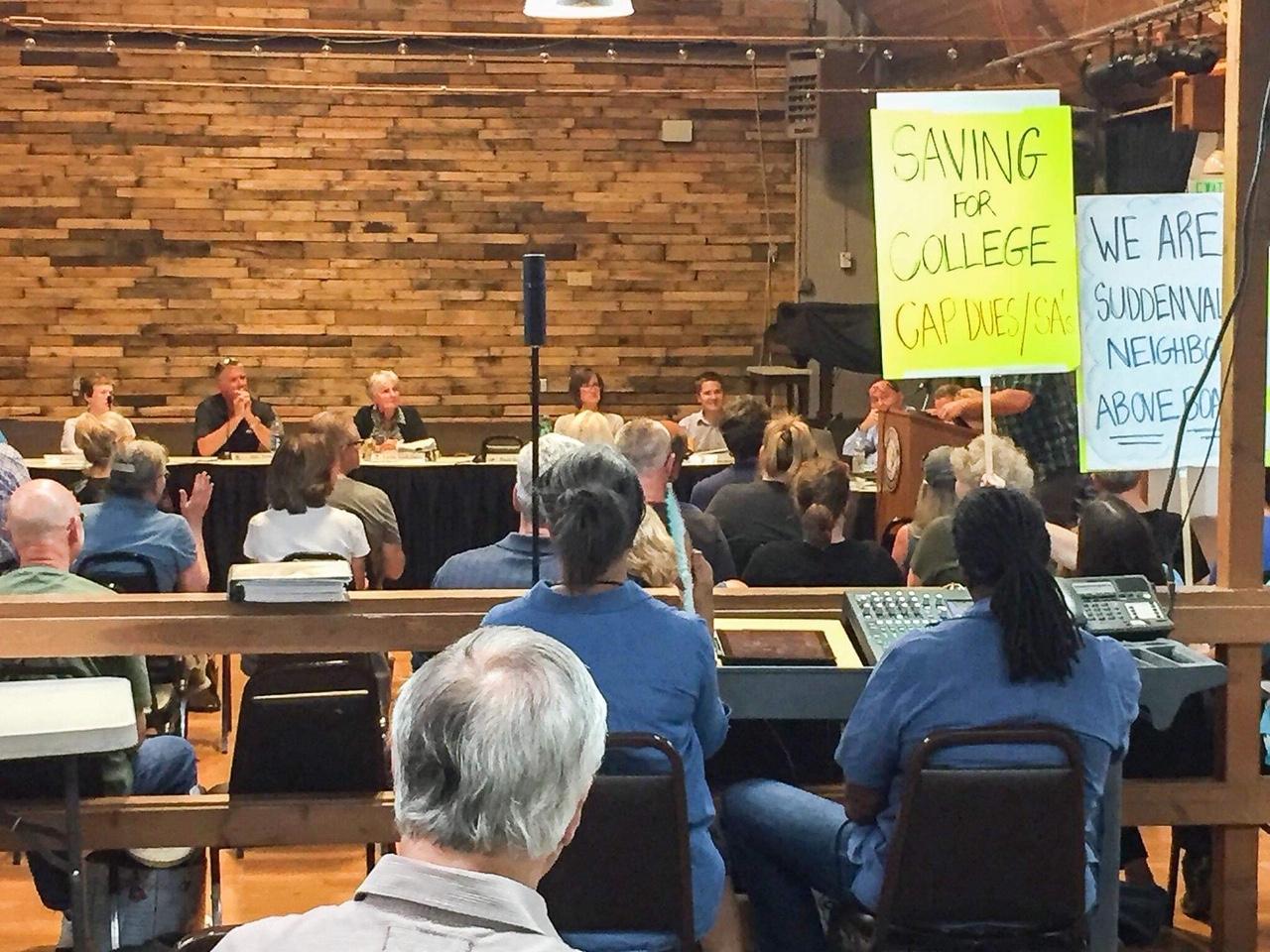 Sudden Valley Board meeting