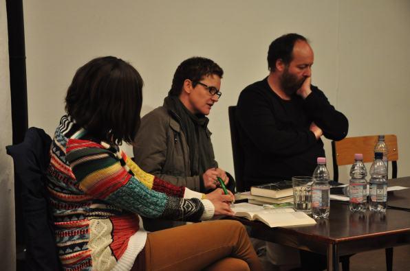 Kathrin Röggla, Maxi Obexer und Lars Studer