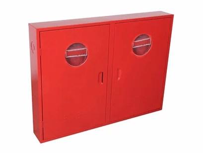 Abrigo duplo para mangueira de incêndio para hidrante de sobrepor em aço carbono