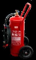 Extintor sobre rodas pó químico 50 kg