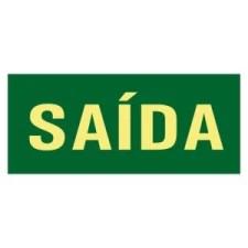 Placa Fotoluminescente Rota de Fuga Saída com inscrição SAÍDA S12