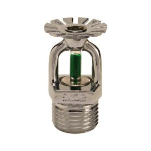 """Sprinkler 93 graus resposta padrão 15 mm 1/2"""" Cromado"""