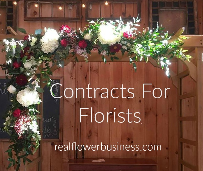 real flower business, florist contract, contracts for florists