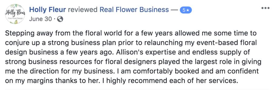 online business courses for florists, floralpreneur