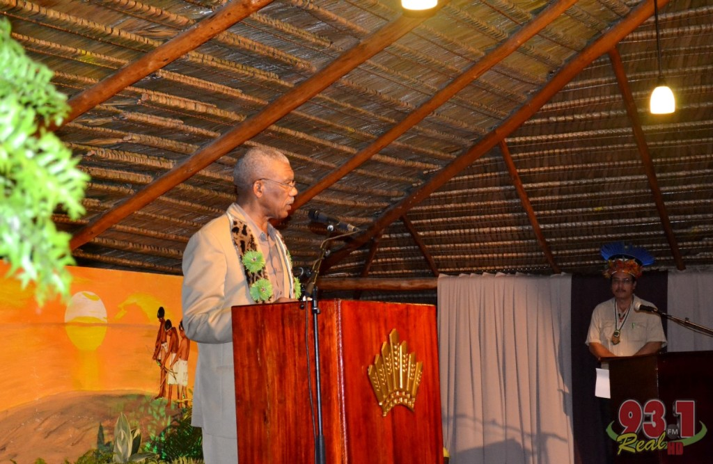 His Excellency President David Granger making an address to the audience at the launching of the month-long celebrations.