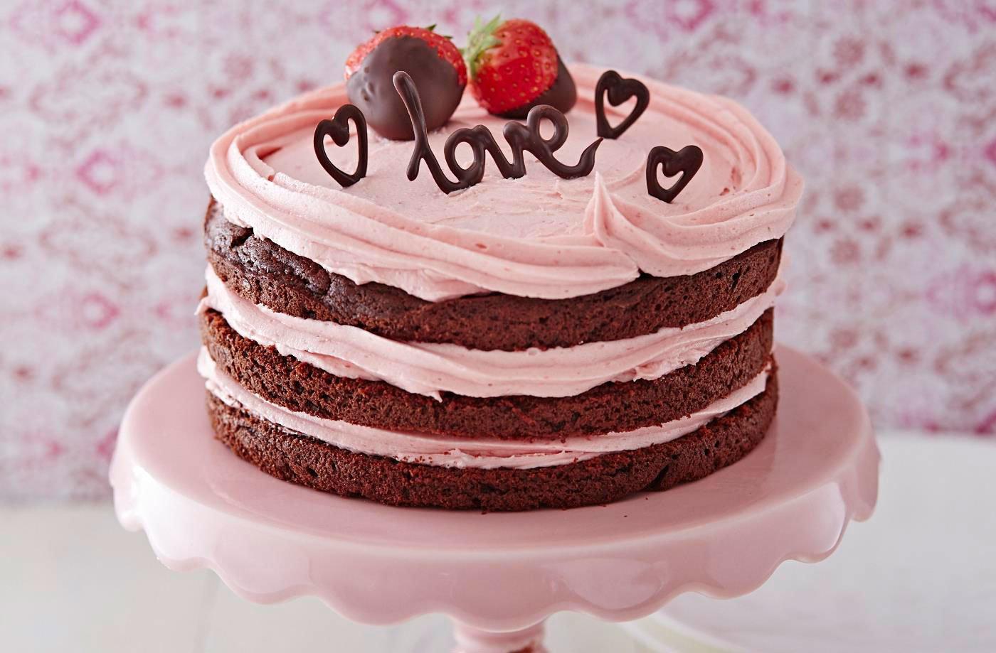 naked chocolate valentine cake   tesco real food