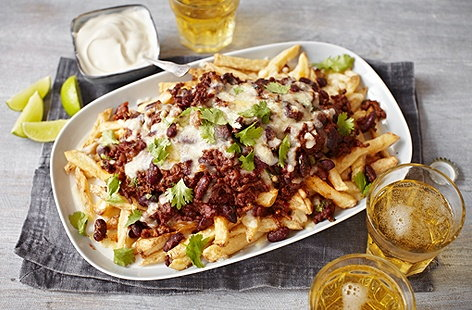 Chilli Cheese Fries Recipe Snack Recipes Tesco Real Food