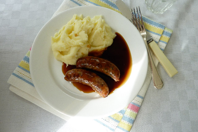 Tesco Suasage and Mash