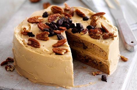 Coffee and pecan cake recipe