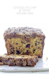 Chocolate Chip Toffee Crumb Cake with Real Food by Dad