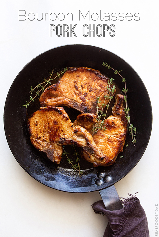 1 Bourbon Molasses Pork Chops from Real Food by Dad