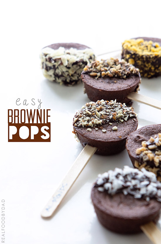 Easy Brownie Pop Recipe from Real Food by Dad