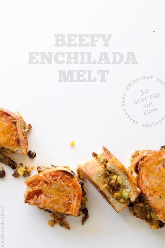 Beefy Enchilada Melt via Real Food by Dad