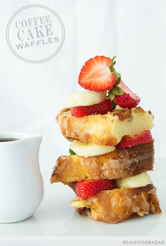 Coffee Cake Waffles via Real Food by Dad