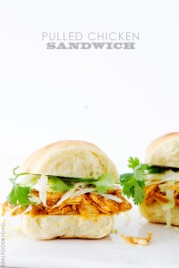 Pulled Chicken Sandwich with Real Food by Dad