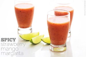 Spicy Strawberry Mango Margarita from Real Food by Dad