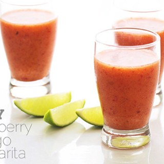Spicy Strawberry Mango Margarita