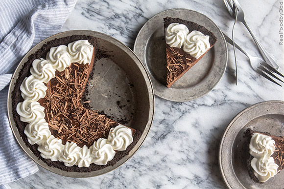 Chocolate and Peanut Butter Pie from Real Food by Dad copy