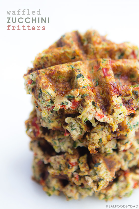 Waffled Zucchini Fritters   Real Food by Dad