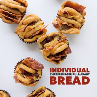 Individual Cheeseburger Pull Apart Bread   Real Food by Dad