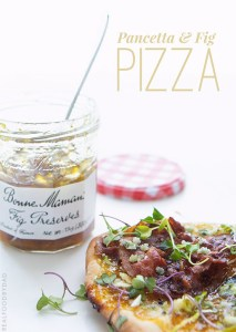 Pancetta and Fig Pizza via Real Food by Dad
