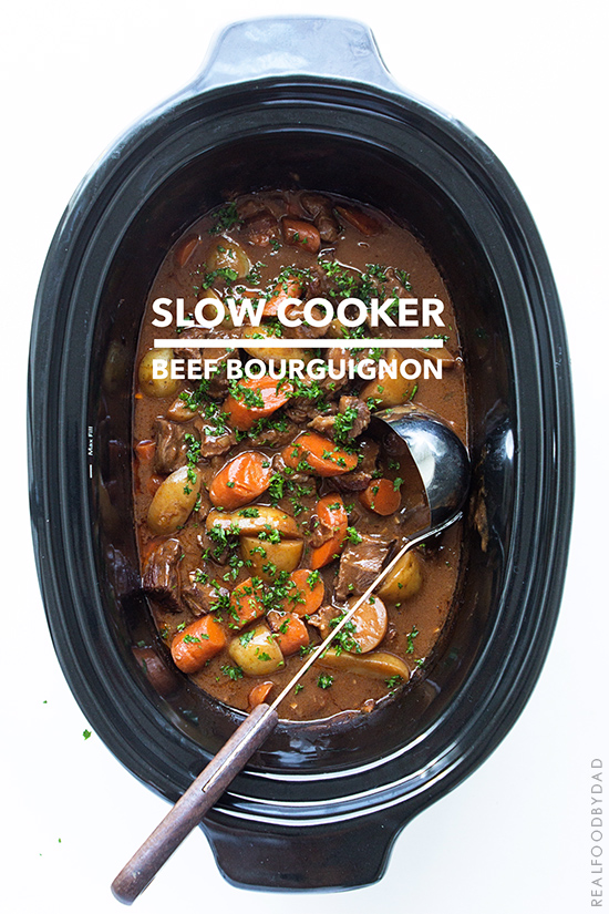 Slow Cooker Beef Bourguignon via Real Food by Dad