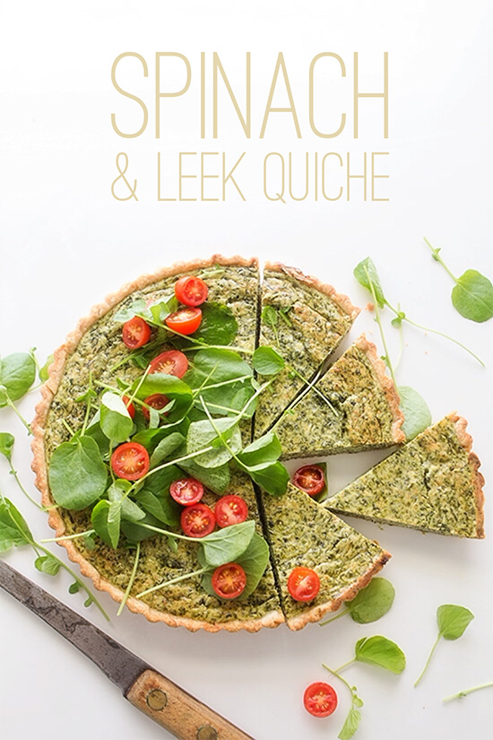 Spinach and Leek Quiche | Real Food by Dad