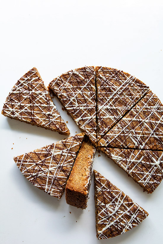 Pecan Coconut Shortbread Cookie via Bakersroyale