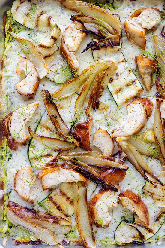 Baked Zucchini Quiche with Roasted Chicken and Fennel   Real Food by Dad copy