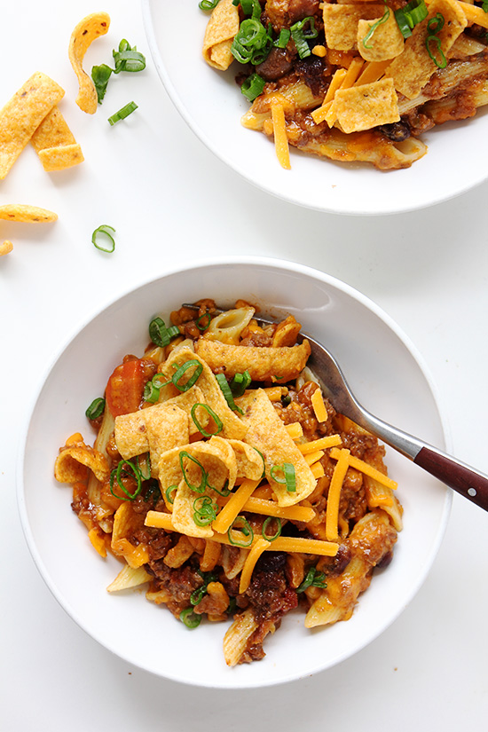 Baked Ziti Chili via Real Food by Dad