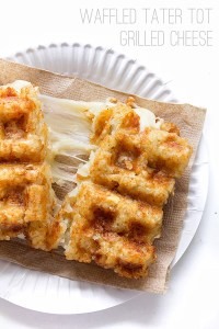 Waffled Tater Tot Grilled Cheese   Real Food by Dad