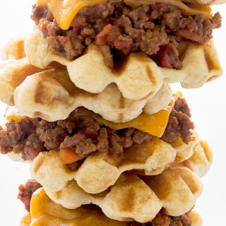 Waffled Sloppy Joe Sliders