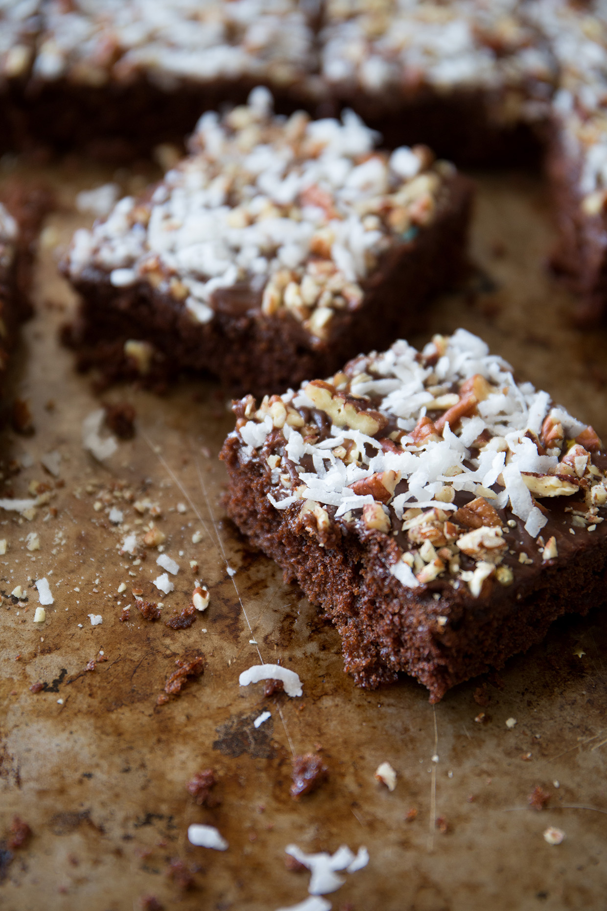 Chocolate Pecan and Coconut Sheet Cake | Real Food by Dad