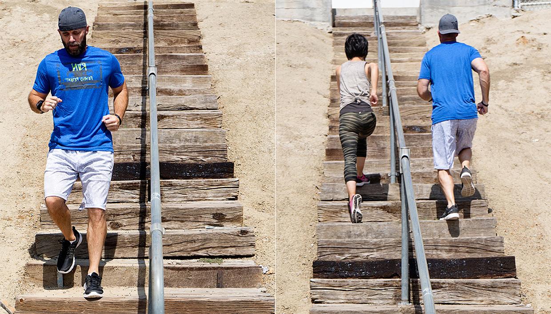 Matt Naomi Stair Running