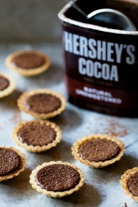 Mini Chocolate Tarts Hersheys Chocolate Cocoa