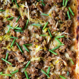 Sausage and Leeks Puff Pastry Pizza Real Food by Dad