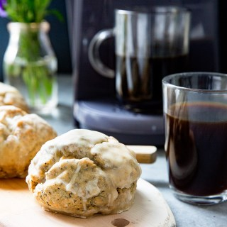 Lemon Poppy Seed Scones + K250 Coffee Maker for Father's Day